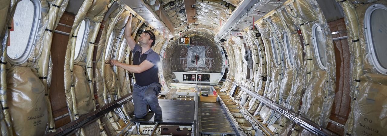 Dornier 328 Phase 4 and 6 inspection interior at RUAG Bern