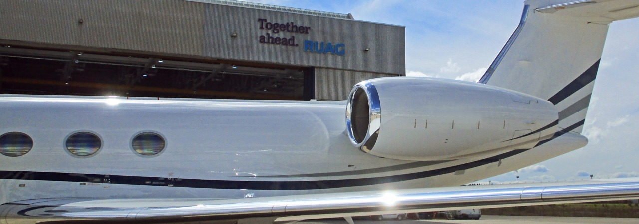 Gulfstream G550 - RUAG one-stop shop MRO and aircraft painting