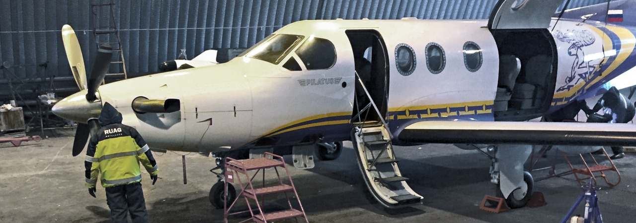RUAG repairs AeroGeo PC-12 onsite in Siberia