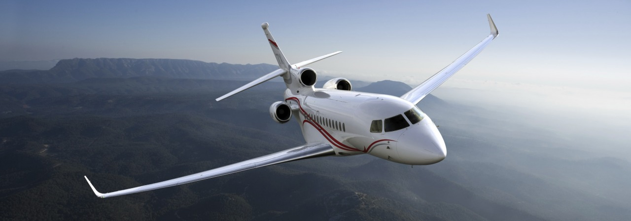 Dassault  Falcon 7X in flight