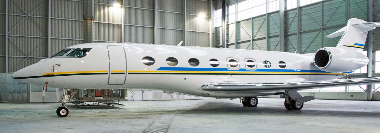 RUAG-paints-Gulfstream-G650